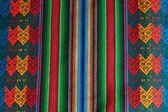 hand - gjord peruansk textur Arkivbild