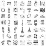 Hand-gjord symbolsuppsättning Royaltyfri Foto
