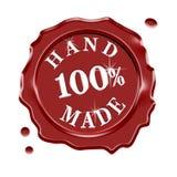 Hand - gjord vaxskyddsremsagaranti Arkivbild