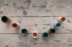 Hand - gjorda keramiska krukmakeriprodukter Royaltyfria Foton