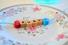 Hand - gjort armband för barn Royaltyfri Bild