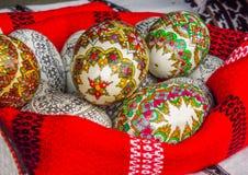 Hand - gjort romanian objekt på den traditionella höstmässan Fotografering för Bildbyråer