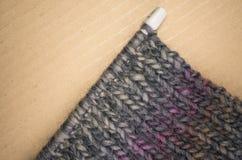 hand - gjort stuckit tyg för melange ull Royaltyfri Bild