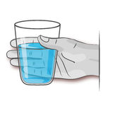 Hand with glass of water Stock Image
