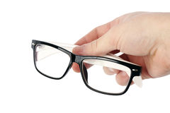 Hand with glasses Royalty Free Stock Image