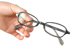 Hand with glasses Stock Image