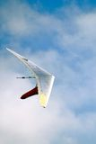 Hand glider. Shot of a hand glider in the sky stock photo