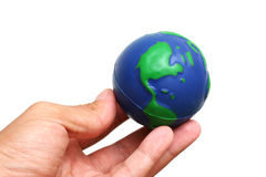 Hand and Globe Royalty Free Stock Image