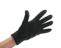 Hand in glove Royalty Free Stock Photography