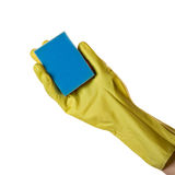 Hand in glove Stock Photo