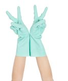 Hand and glove Stock Image