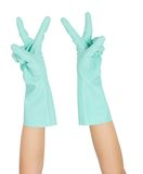Hand and glove Royalty Free Stock Image