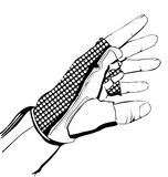 Hand in glove. Vector hand in glove cycle Royalty Free Stock Images