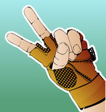 Hand in glove vector illustration