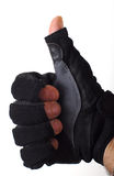 Hand with glove Stock Photos