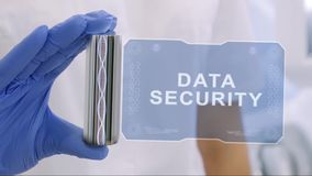 Hand in glove with hologram Data Security