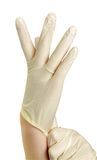 Hand with gloves Royalty Free Stock Photos