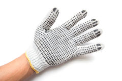 Hand gloves on white background Royalty Free Stock Images