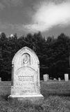 """Hand of God pointing to heaven. Early 20th-century New England tombstone in a cemetery with a hand and finger pointing to heaven on it, and the word """"died royalty free stock image"""