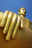 Hand of golden buddha. Royalty Free Stock Photography