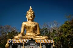 Hand of Golden Buddha statue Stock Image