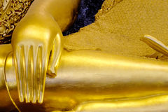 Hand of Golden buddha in thailand. Phra Buddha Chinnarat to be the most beautiful Buddha portrait in Thailand. Pitsanulok Thailand in 2016 stock photo