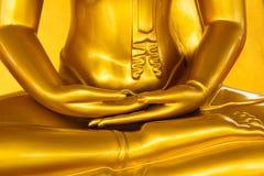 Hand goldener Buddha Lizenzfreie Stockbilder