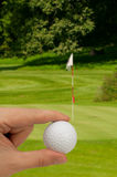 Hand With Golf Ball Royalty Free Stock Photography