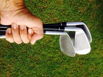 Hand golfers Royalty Free Stock Photo