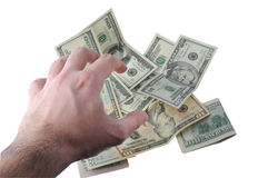 Hand Grabbing Money Royalty Free Stock Photography