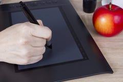 Hand graphic designer Stock Image