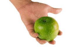 Hand with  green apple Royalty Free Stock Photography