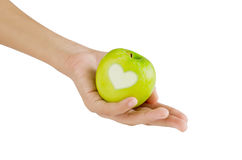 Apple on hand Royalty Free Stock Photo