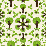 Hand green forest pattern Royalty Free Stock Image