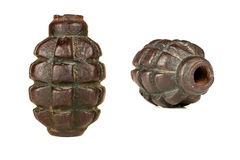 Hand grenade. World war two hand grenade isolated on white Royalty Free Stock Image