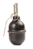 Hand grenade. Over a white background Stock Photography