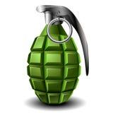 Hand grenade. Realistic  green hand grenade Stock Photos