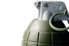 Hand Grenade. A military hand grenade ready for action Stock Photo