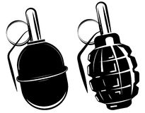 Hand grenade, bomb explosion, weapons army weapon. Vector stock illustration