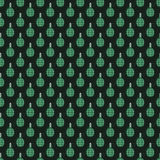 Hand grenade bomb explosion weapons seamless pattern vector illustration Royalty Free Stock Image