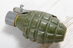 Hand grenade in green color Royalty Free Stock Photography