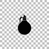 Hand grenade icon flat vector illustration