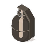 Hand grenade icon isolated on white background. Royalty Free Stock Images