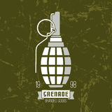 Hand grenade icon Royalty Free Stock Images