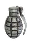 Hand grenade. Isolated over a white background. Explosive ammunition Stock Photo