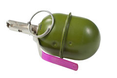 Hand grenade isolated. On a white background Royalty Free Stock Photography