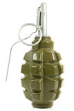 Hand grenade. Isolated on white background Royalty Free Stock Image