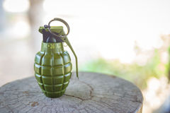 Hand grenade M26A2 model Royalty Free Stock Photos