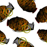 Hand grenade pattern Royalty Free Stock Photo