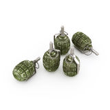 Hand grenades. Old soviet hand grenade f1 no white background Stock Images